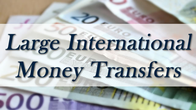 large international money transfers