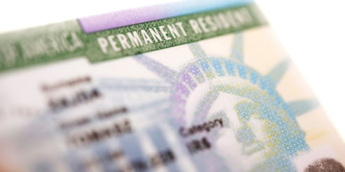 permanent visa green card