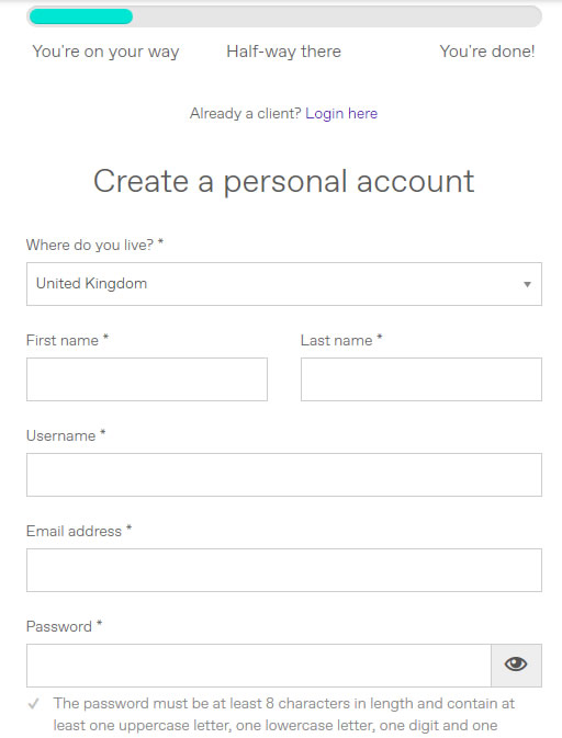 personal details WorldFirst