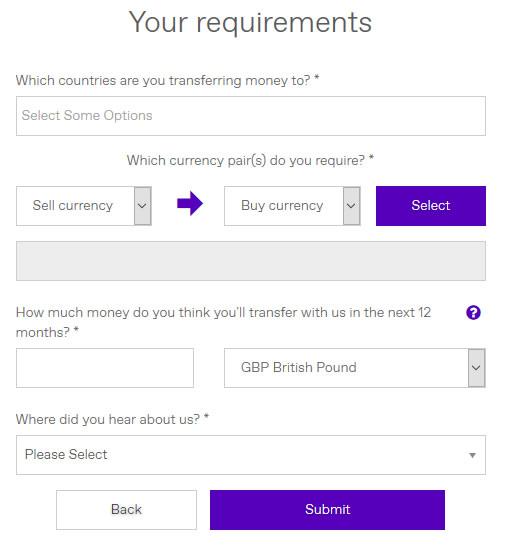 currency transfer requirements