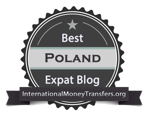 Best Poland expat blog badge