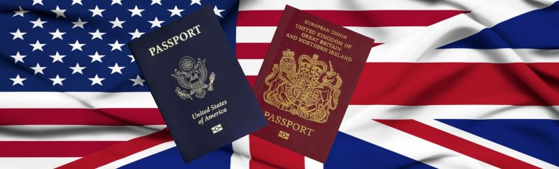 US and UK passport