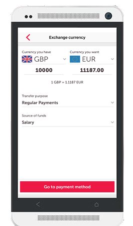 Moneycorp Android app