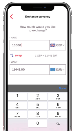 Moneycorp iOS app